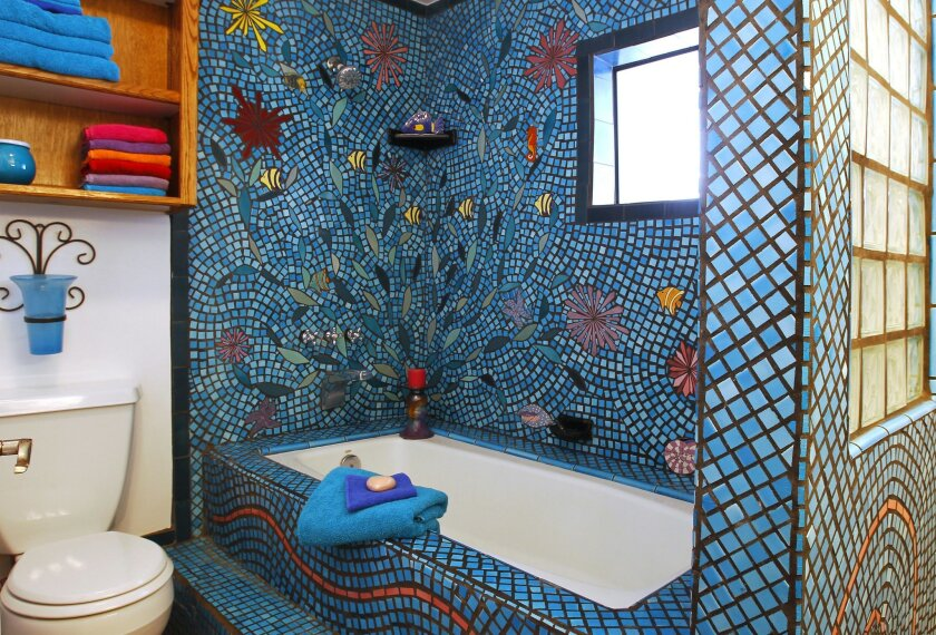Marianne Bosch taught herself how to lay mosaic tile and went on to tile three bathrooms.