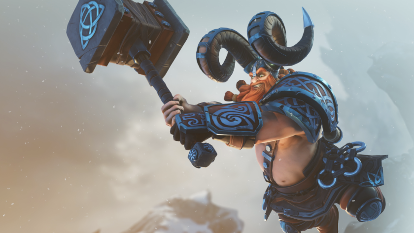 """Hammer-wielding Thorgrim is among the characters in the forthcoming computer game """"Breakaway,"""" which sees two teams of four players battle over a spherical relic."""