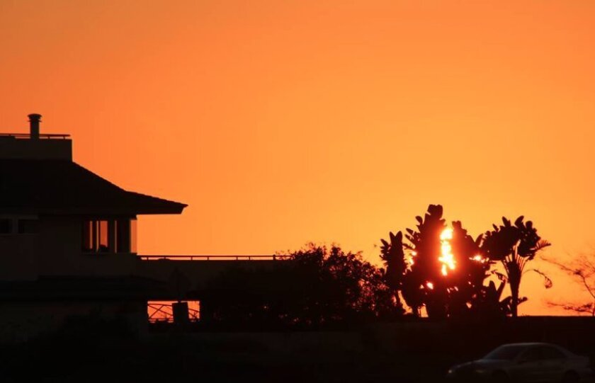 Tuesday's sunset in Del Mar.