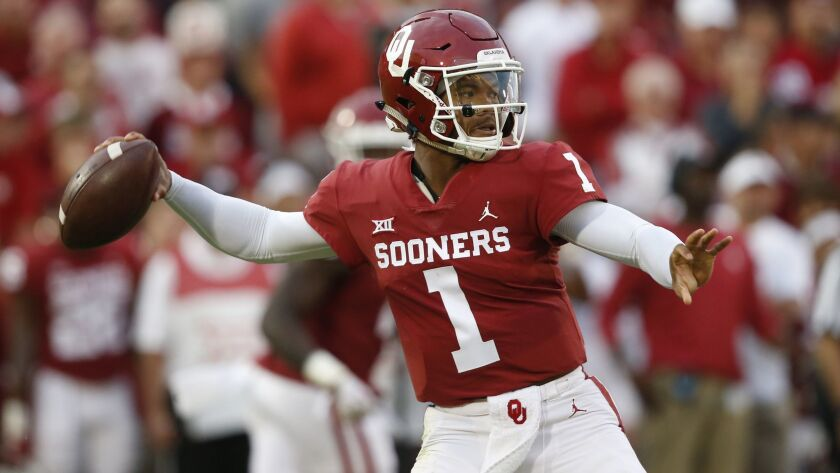separation shoes bf4e5 13afc College football: Oklahoma quarterback Kyler Murray is named ...