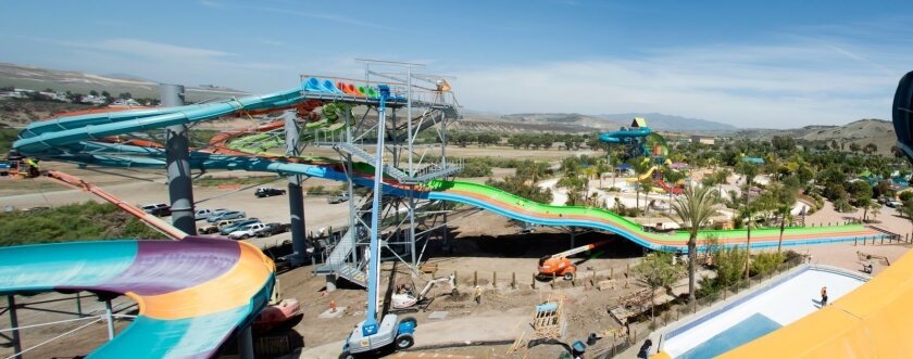 When it opens Memorial Day, SeaWorld's Aquatica water park will have a brand new attraction in which riders race one another through twists and turns on a 375-foot slide.