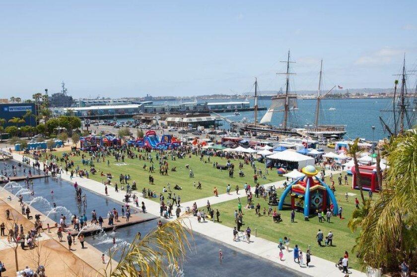 Waterfront Park in San Diego.