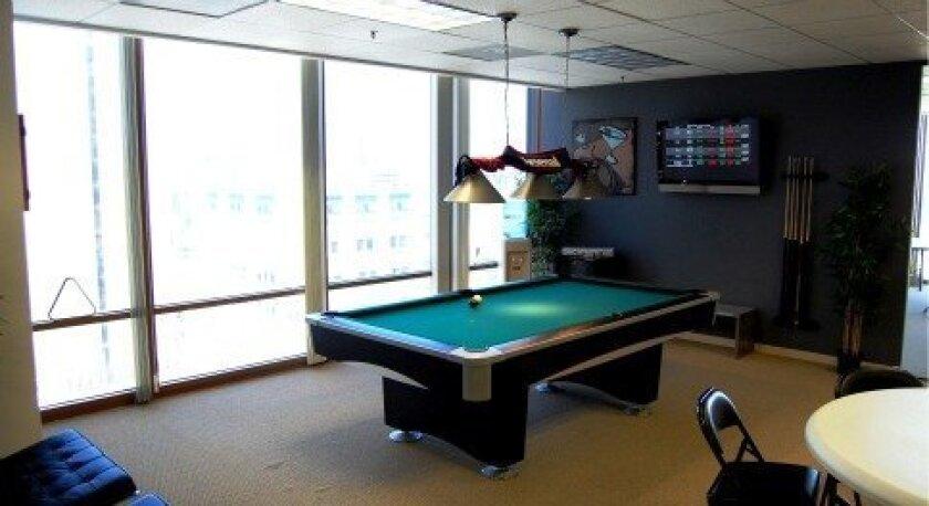 Underground Elephant offers offbeat company perks, like an employee pool table.