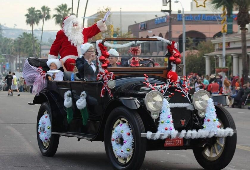 Santa Claus in the La Jolla Christmas Parade