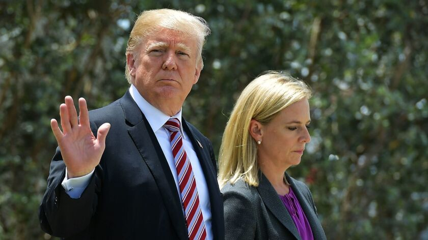 Trump has berated Nielsen during Cabinet meetings and belittled her to other White House staff, according to colleagues.