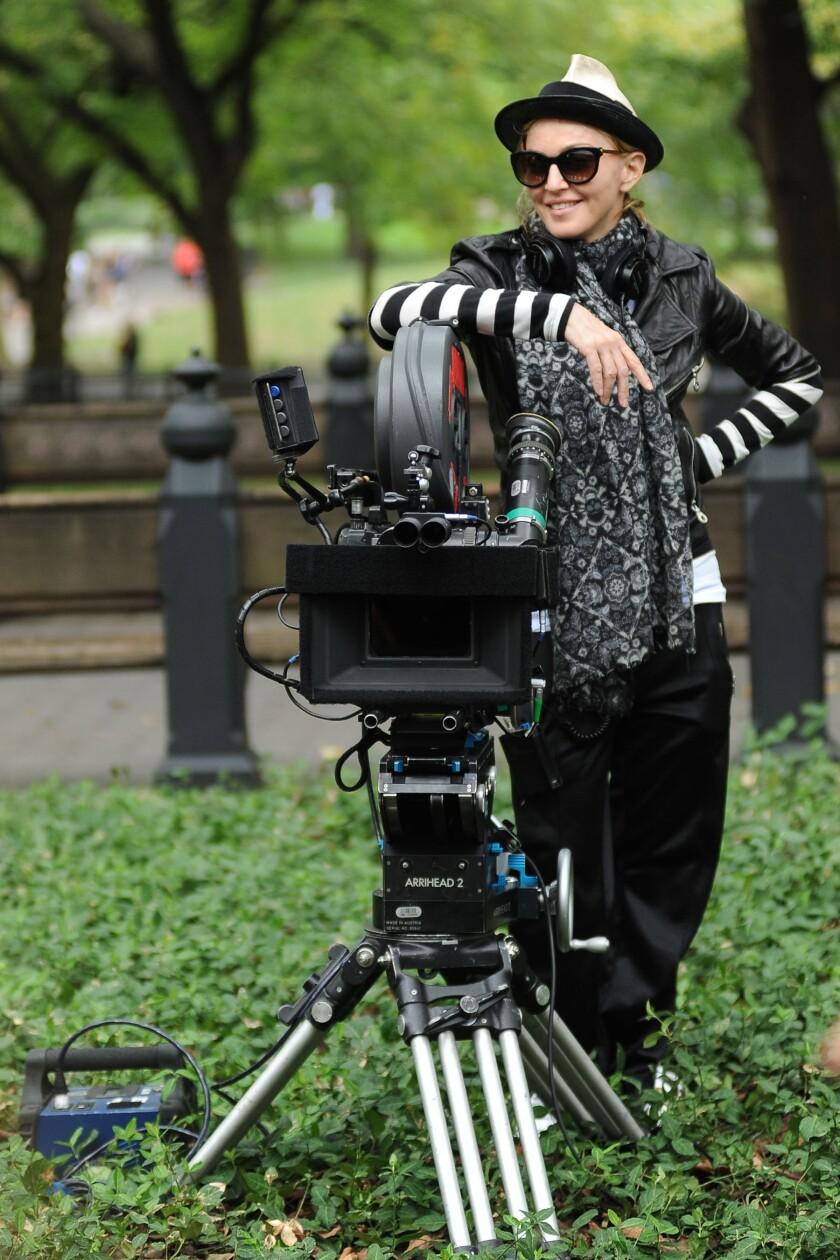 Madonna on set