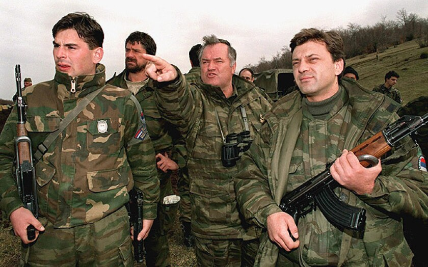 Serb army commander Ratko Mladic in an April 16, 1994, photo.