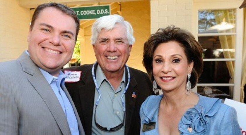 Carl DeMaio, Roger Williams, Farah Douglas (Photo: Jon Clark)