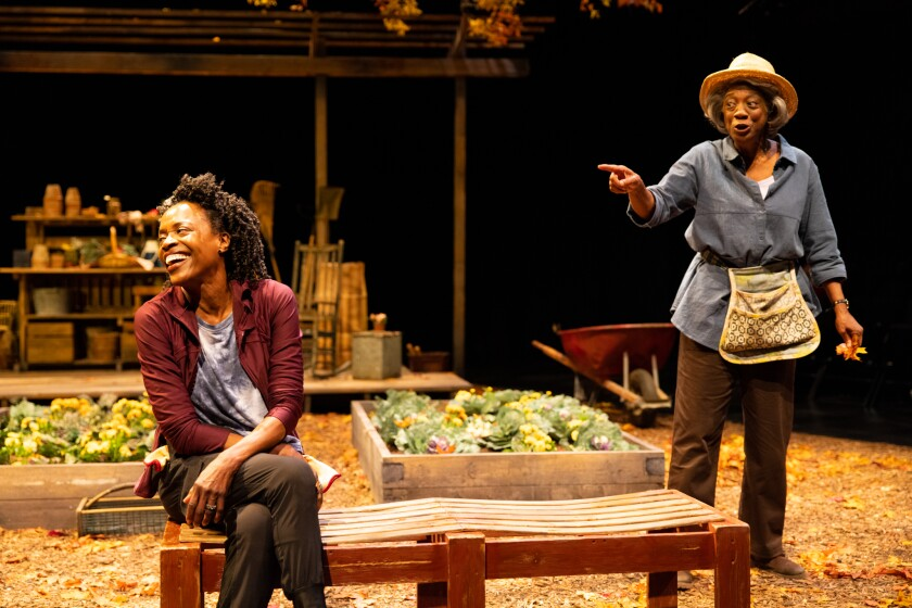 """Charlayne Woodard, left, and Stephanie Berry in La Jolla Playhouse's world premiere play """"The Garden."""""""