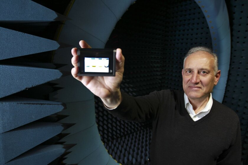 Peter Leparulo, shown here with Novatel's MiFi mobile hot spot, is stepping down as company CEO