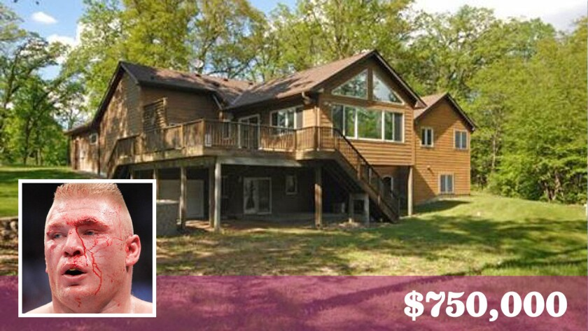 WWE champion Brock Lesnar has sold his rural home in Minnesota at a loss.