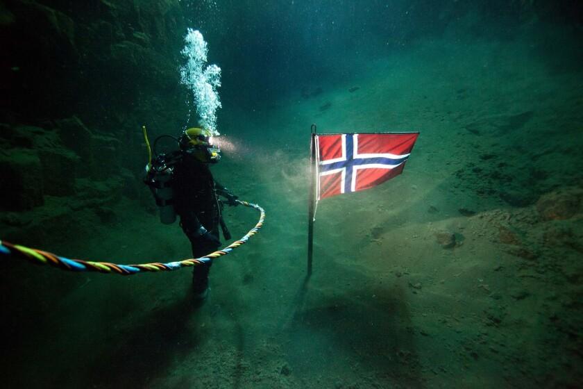 """A deep-sea diver in """"Pioneer."""""""