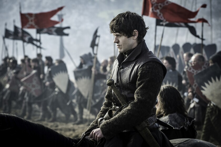 """Ramsay Bolton (Iwan Rheon) oversees his men in """"Battle of the Bastards"""" on """"Game of Thrones."""""""