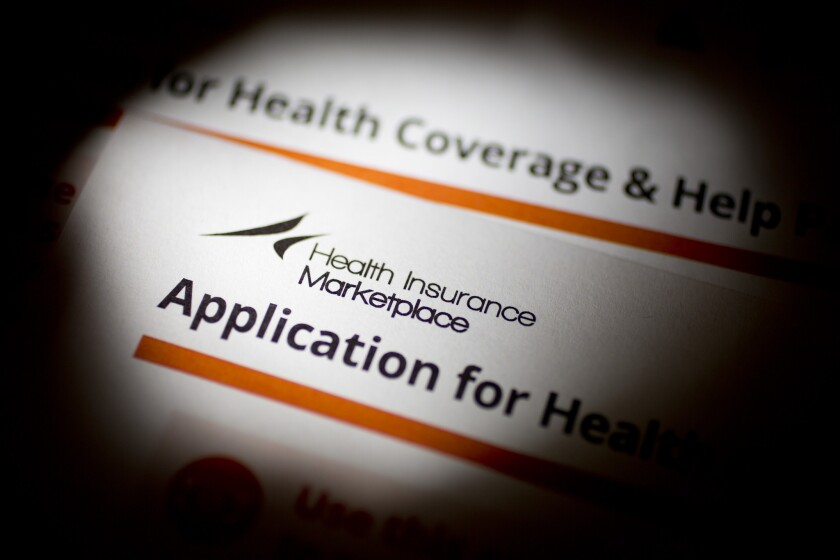 The application for the Health Insurance Marketplace from the Department of Health and Human Services