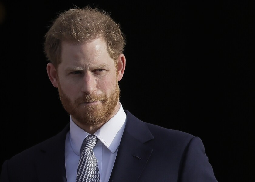 Britain's Prince Harry pictured in January 2020.