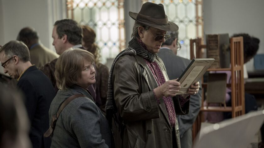 """(L-R) - Melissa McCarthy as """"Lee Israel"""" and Richard E. Grant as """"Jack Hock"""" in the film """"CAN YOU EV"""