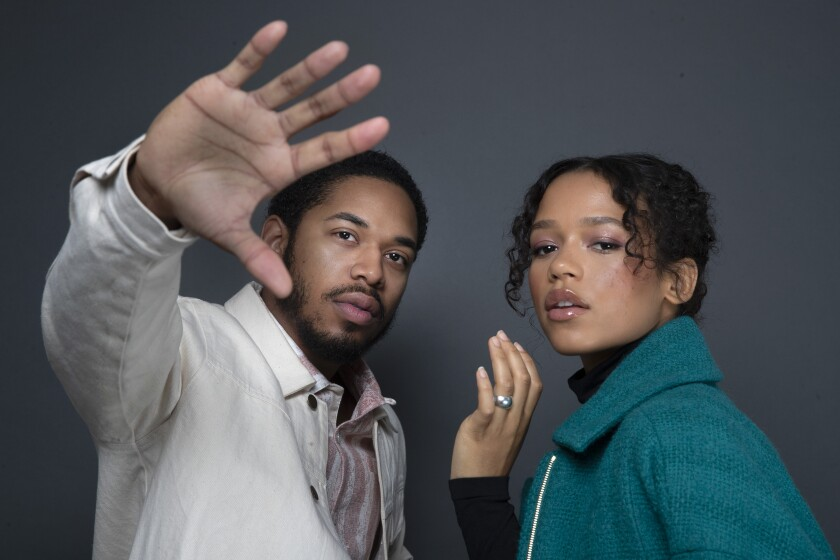 'Waves' stars Kelvin Harrison Jr., left, and Taylor Russell, right, anchor Trey Edward Shults' critically acclaimed drama about a South Florida family in crisis.