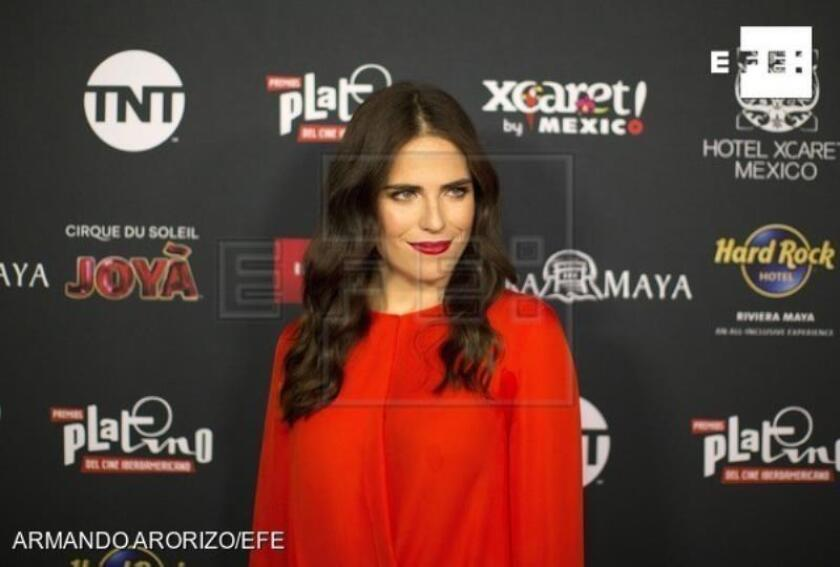 Mexican actress Karla Souza poses upon arrival at the press conference to announce the Platino Awards nominees, at the Roosevelt hotel, in Los Angeles, California, United States, 21 March 2019.EPA- EFE/ Armando Arorizo