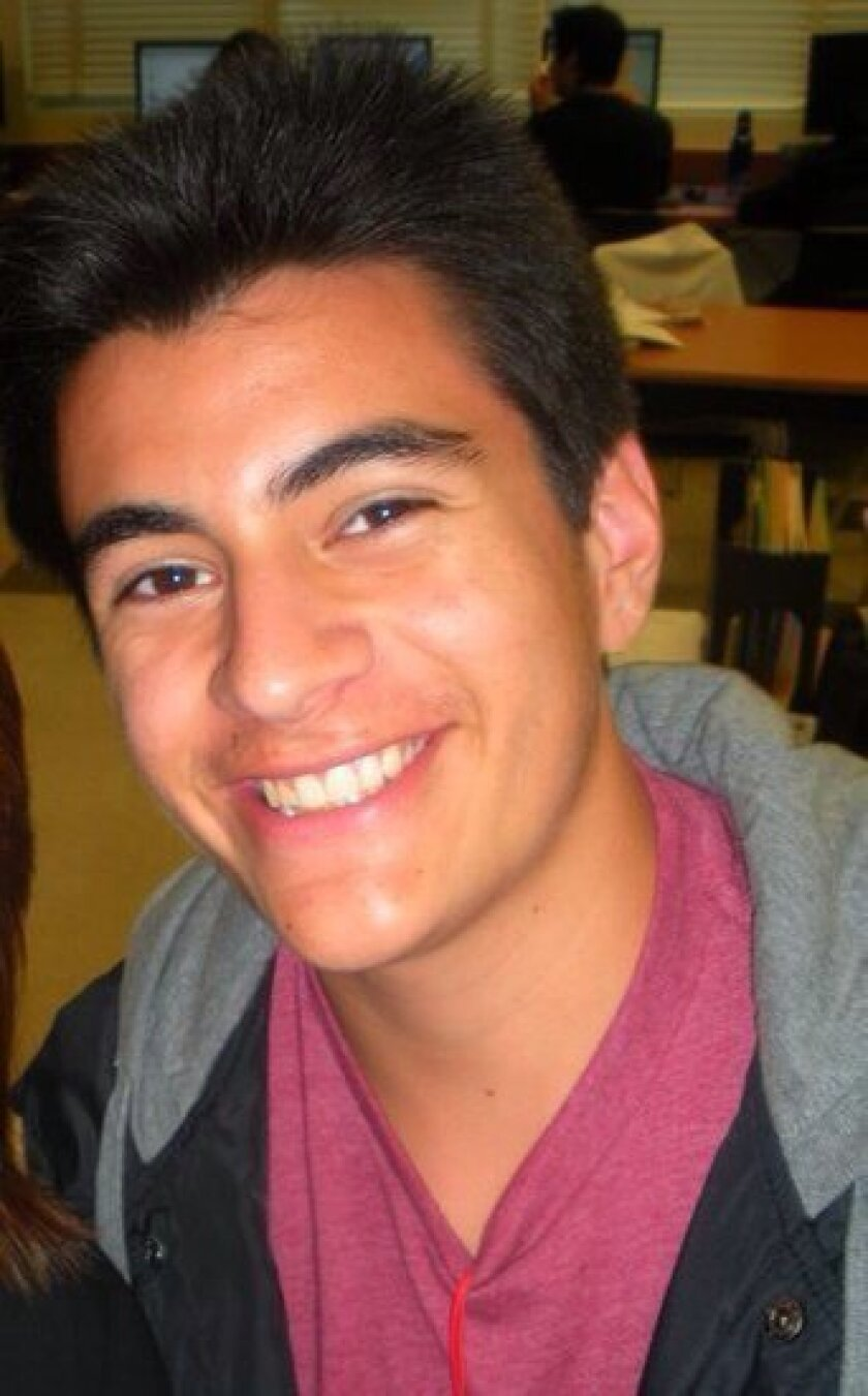 Brendon Arce, 20, was on his home from work when he was killed in a Carlsbad crash.