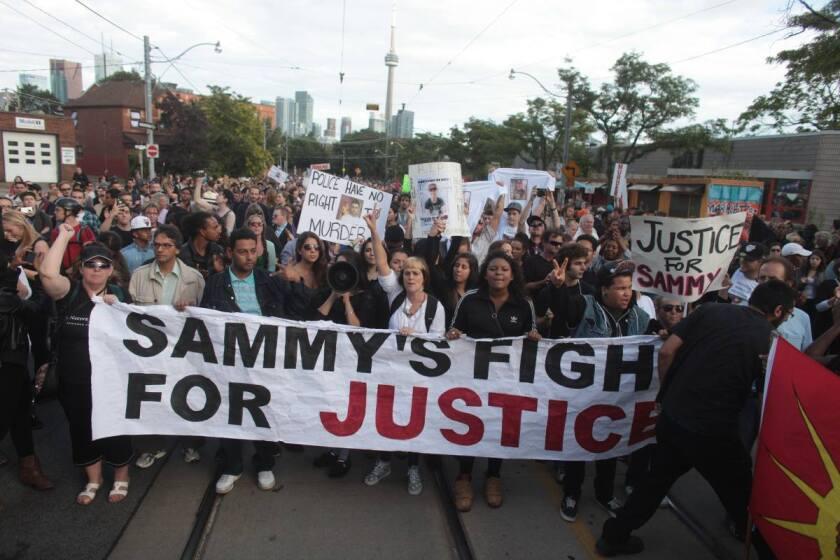 Foto de las redes sociales de James Forcillo Must Be Brought to Justice.