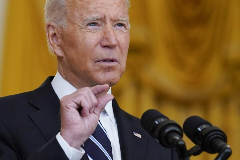 Biden maintains narrow focus