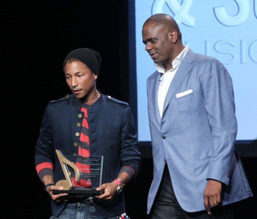 Pharrell Williams, left, and Jon Platt at the 2012 ASCAP Rhythm & Soul Music Awards in Beverly Hills.