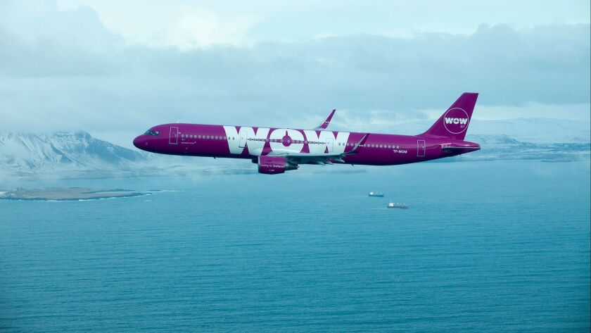 Wow Air aircraft.