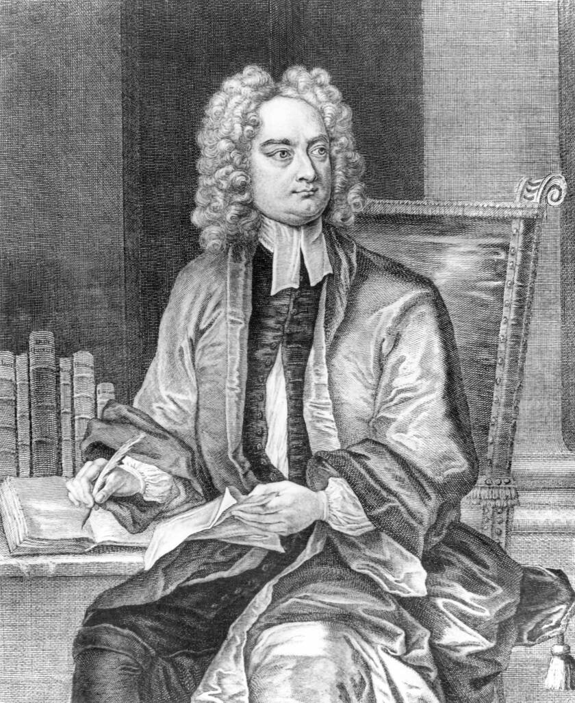 Irish writer Jonathan Swift.