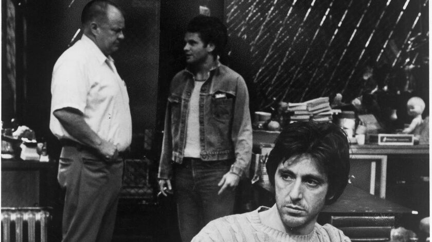 """Clifton James, left, with Thomas Waites and Al Pacino in the play """"American Buffalo."""""""