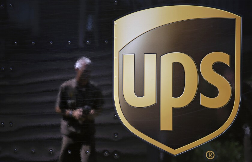 Two UPS workers were killed in a workplace accident at a delivery hub at Ontario Airport on Monday.