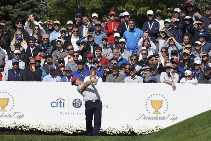 Imagen de archivo del golfista estadounidense Charley Hoffman. EFE/Archivo