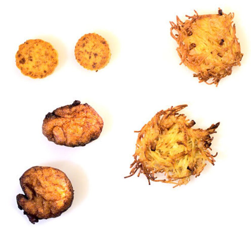 A variety of latkes