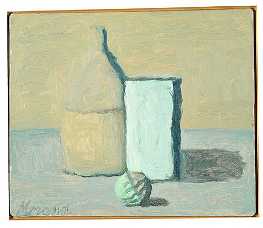 "EVERYDAY: Morandi's repetitious use of common objects lent his paintings a poetic strength. ""There is nothing more surreal, nothing more abstract than reality,"" he said."