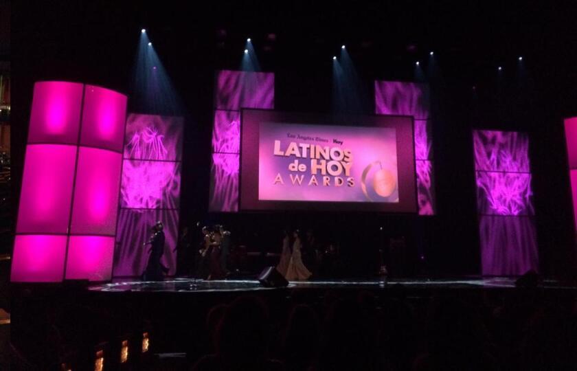 El Dolby Theatre de Hollywood se prepara para la cuarta entrega de los Premios Latinos de HOY.