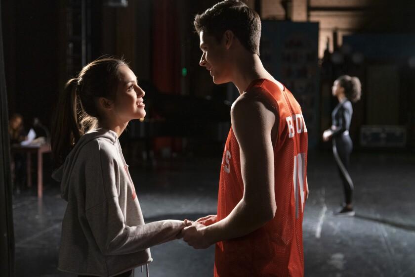 "Olivia Rodrigo and Matt Cornett in ""High School Musical: The Musical: The Series"" on Disney."