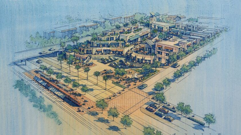 Bayside Promenade would include 41 apartments, neighborhood market and parking for the future Clairemont Drive trolley station.