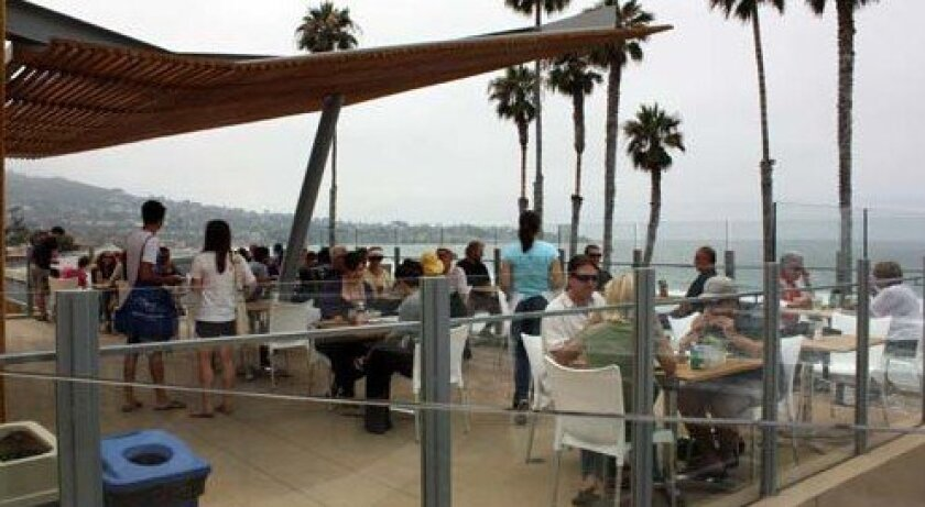 Caroline's Seaside Cafe has indoor and outdoor seating. Photo: Kathy Day
