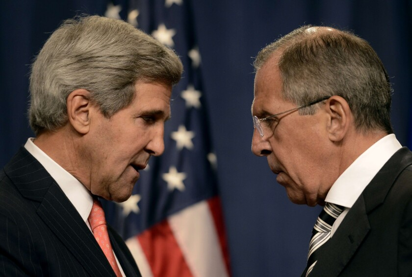 U.S. Secretary of State John F. Kerry, left, and Russian Foreign Minister Sergei Lavrov have been confronting an array of divisive issues over the last two years as relations between the former Cold War rival nations have deteriorated.