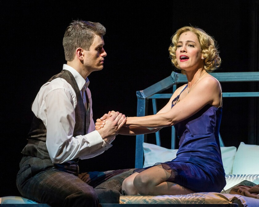 "Shayne Kennon and Leigh Ann Larkin in ""Harmony"" at the CTG/Ahmanson Theatre."