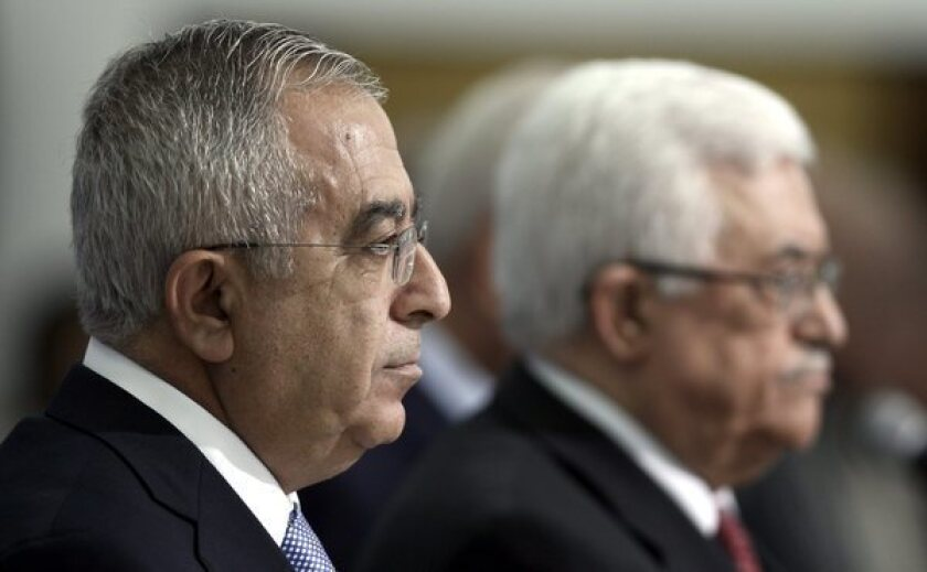 Palestinian Authority prime minister resigns