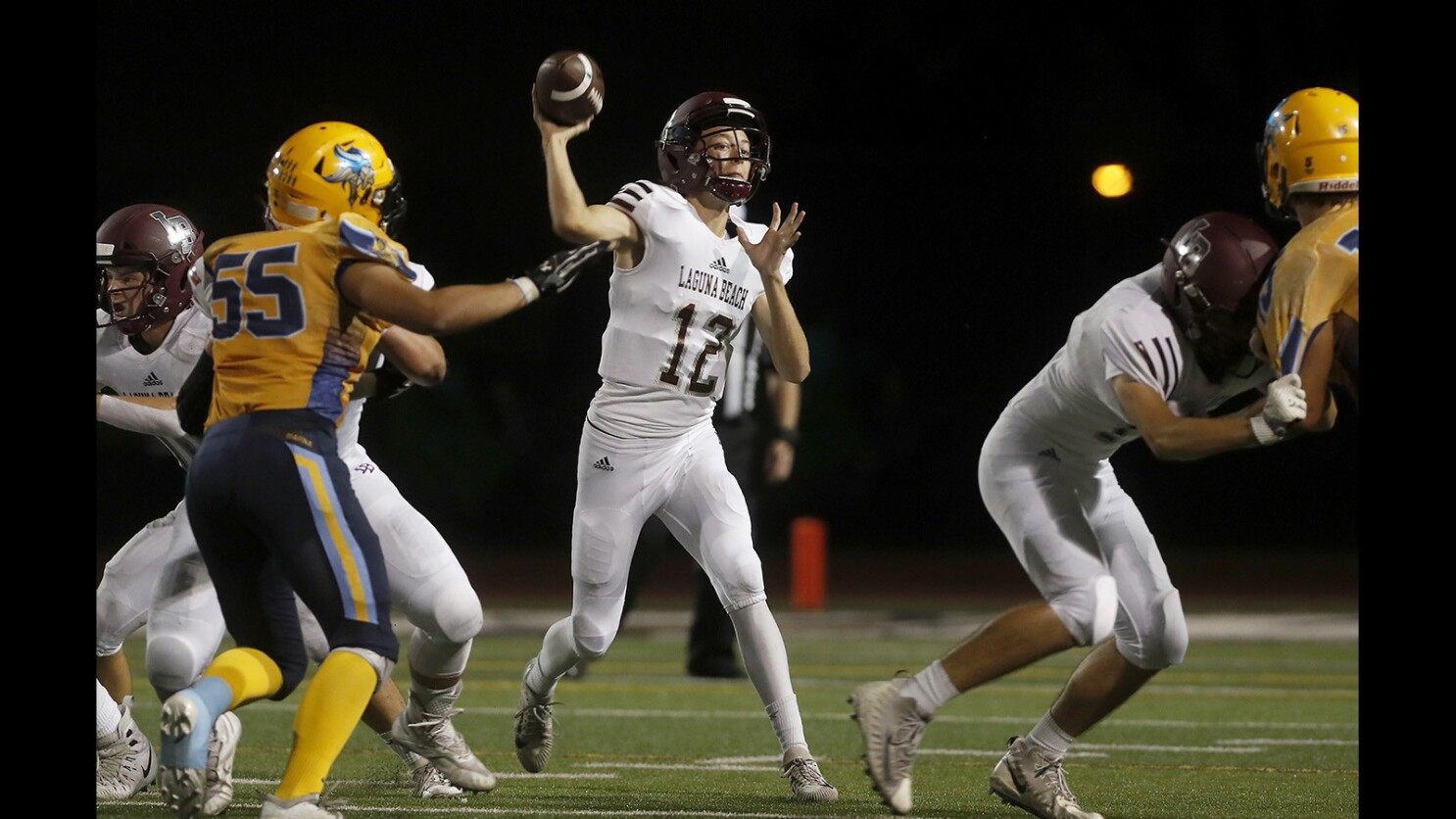 High School Roundup: Laguna Beach football routs Green Street Academy in season opener