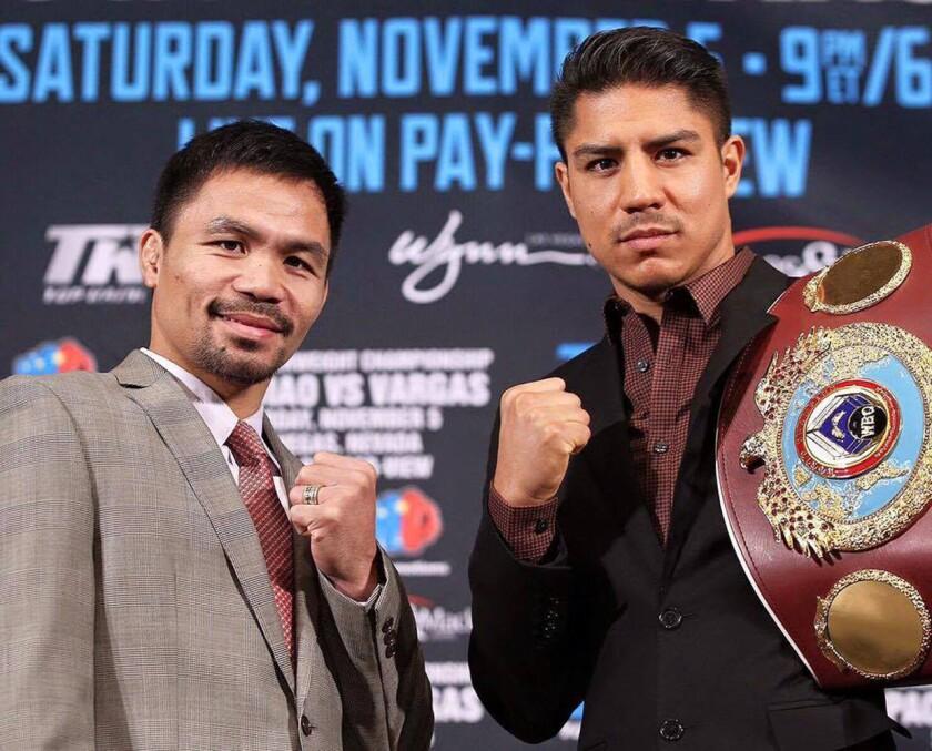 Manny Pacquiao y Jessie Vargas chocarán el 5 de noviembre en Las Vegas.