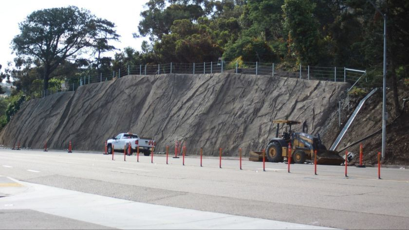 Work will continue on the Torrey Pines Slope restoration project through at least the summer months of 2019. Photo taken May 28.