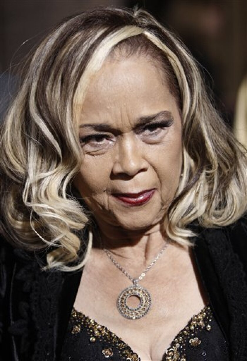 "In this Nov. 24, 2008, file photo, Etta James arrives at the premiere of ""Cadillac Records"" in Los Angeles. (AP Photo/Matt Sayles, file)"