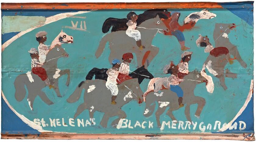 """St. Helena's Black Merry Go Rond"" by Sam Doyle"