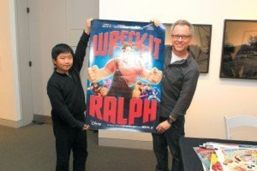Perry Chen meets Rich Moore, director of Disney's 'Wreck-It Ralph,' at Spike & Mike's 2013 Festival of Animation in La Jolla. Photo/Daniel K. Lew