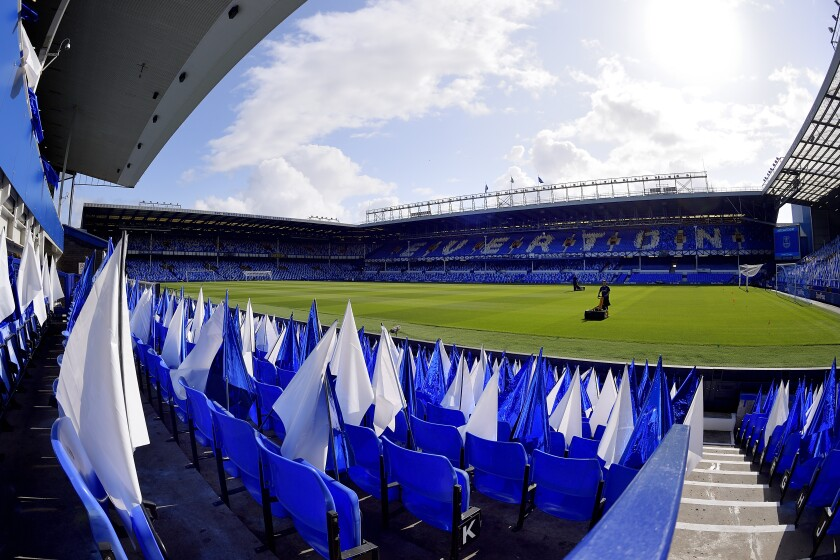 A view of Goodison Park before the Premier League match between Everton and Watford on Aug. 17.