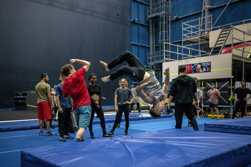 "The cast of Cirque du Soleil's ""R.U.N"" works through action and fight sequences in Montreal ahead of the production's forthcoming opening in Las Vegas."