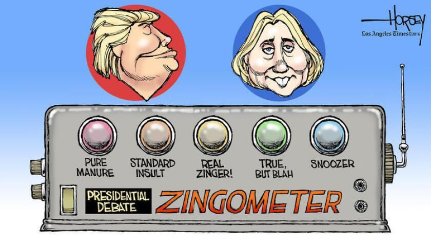 El debate en la Universidad de Hofstra, en Long Island (Nueva York) cumplió las expectativas generadas y mostró el contraste entre las propuestas y las fuertes personalidades de Clinton, vestida toda de rojo, y Trump, con traje oscuro y corbata celeste.