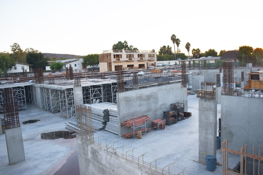 The Outpost construction site's state of completion as of Tuesday.